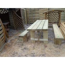 Stół i 2 ławy